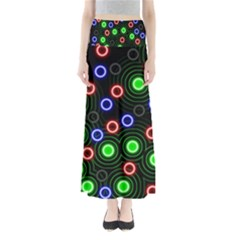 Neons Couleurs Circle Light Green Red Line Maxi Skirts