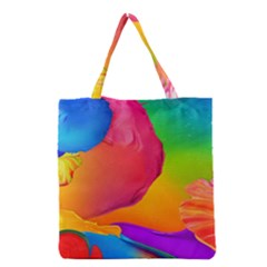 Paint Rainbow Color Blue Red Green Blue Purple Grocery Tote Bag by Mariart