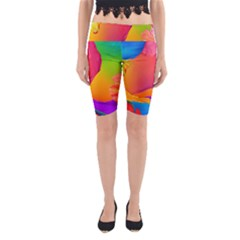 Paint Rainbow Color Blue Red Green Blue Purple Yoga Cropped Leggings by Mariart