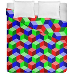 Seamless Rgb Isometric Cubes Pattern Duvet Cover Double Side (california King Size) by Nexatart
