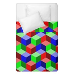 Seamless Rgb Isometric Cubes Pattern Duvet Cover Double Side (single Size) by Nexatart
