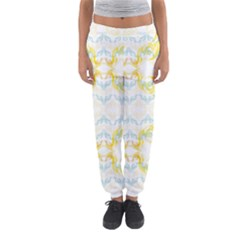Crane White Yellow Bird Eye Animals Face Mask Women s Jogger Sweatpants by Mariart