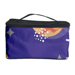 Planet Galaxy Space Star Polka Meteor Moon Blue Sky Circle Cosmetic Storage Case by Mariart