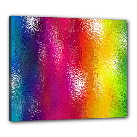Color Glass Rainbow Green Yellow Gold Pink Purple Red Blue Canvas 24  X 20  by Mariart