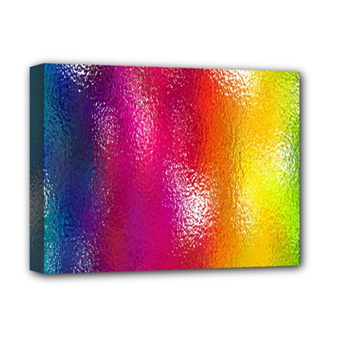 Color Glass Rainbow Green Yellow Gold Pink Purple Red Blue Deluxe Canvas 16  X 12   by Mariart