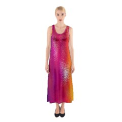 Color Glass Rainbow Green Yellow Gold Pink Purple Red Blue Sleeveless Maxi Dress by Mariart
