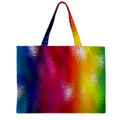 Color Glass Rainbow Green Yellow Gold Pink Purple Red Blue Zipper Mini Tote Bag by Mariart