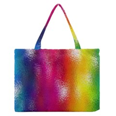 Color Glass Rainbow Green Yellow Gold Pink Purple Red Blue Medium Zipper Tote Bag by Mariart