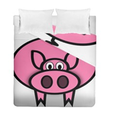 Pork Pig Pink Animals Duvet Cover Double Side (full/ Double Size) by Mariart