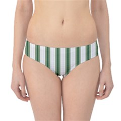 Plaid Line Green Line Vertical Hipster Bikini Bottoms