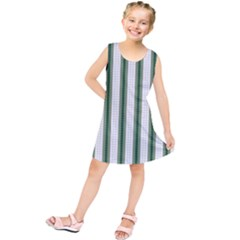 Plaid Line Green Line Vertical Kids  Tunic Dress by Mariart