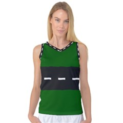Road Street Green Black White Line Women s Basketball Tank Top by Mariart
