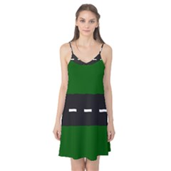 Road Street Green Black White Line Camis Nightgown