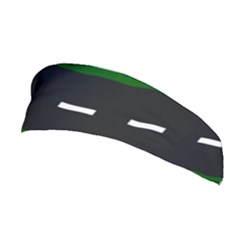 Road Street Green Black White Line Stretchable Headband by Mariart