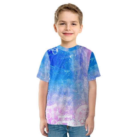 Horoscope Compatibility Love Romance Star Signs Zodiac Kids  Sport Mesh Tee by Mariart