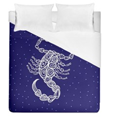 Scorpio Zodiac Star Duvet Cover (queen Size) by Mariart
