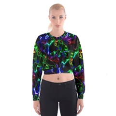 Saga Colors Rainbow Stone Blue Green Red Purple Space Cropped Sweatshirt by Mariart