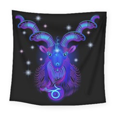 Sign Capricorn Zodiac Square Tapestry (large)