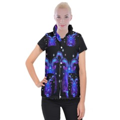 Sign Capricorn Zodiac Women s Button Up Puffer Vest by Mariart