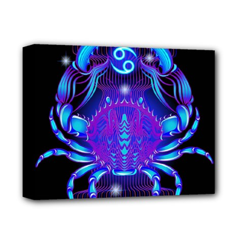 Sign Cancer Zodiac Deluxe Canvas 14  X 11  by Mariart