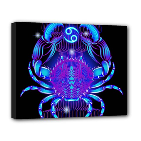 Sign Cancer Zodiac Deluxe Canvas 20  X 16   by Mariart