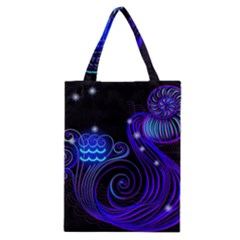 Sign Aquarius Zodiac Classic Tote Bag by Mariart