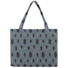 Star Space Black Grey Blue Sky Mini Tote Bag by Mariart