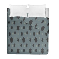 Star Space Black Grey Blue Sky Duvet Cover Double Side (full/ Double Size) by Mariart