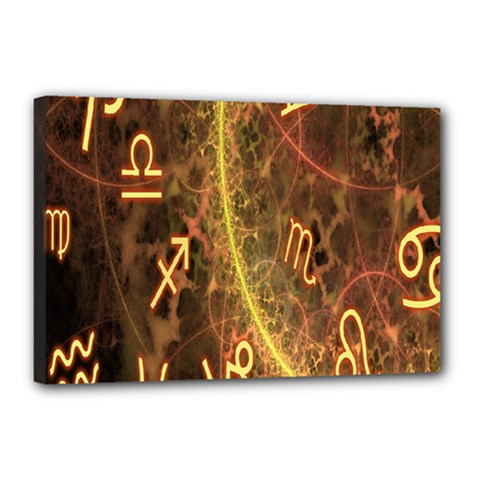 Romance Zodiac Star Space Canvas 18  X 12  by Mariart