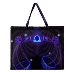 Sign Libra Zodiac Zipper Large Tote Bag by Mariart