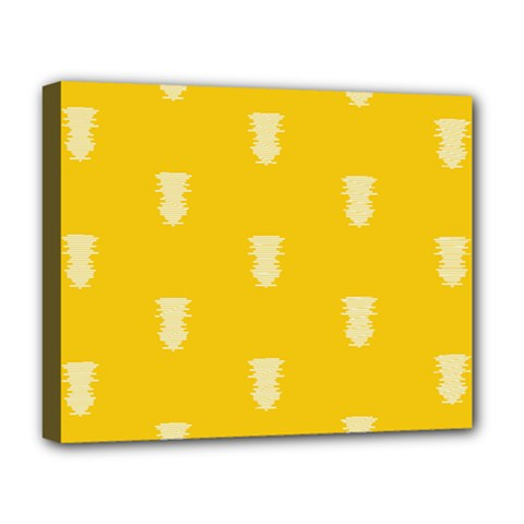 Waveform Disco Wahlin Retina White Yellow Vertical Deluxe Canvas 20  X 16   by Mariart