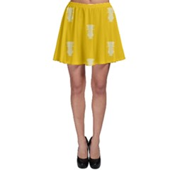 Waveform Disco Wahlin Retina White Yellow Vertical Skater Skirt