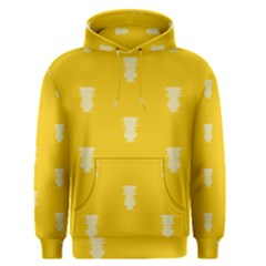 Waveform Disco Wahlin Retina White Yellow Vertical Men s Pullover Hoodie