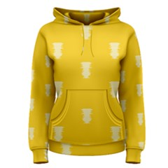 Waveform Disco Wahlin Retina White Yellow Vertical Women s Pullover Hoodie by Mariart
