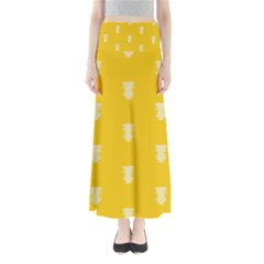 Waveform Disco Wahlin Retina White Yellow Vertical Maxi Skirts by Mariart