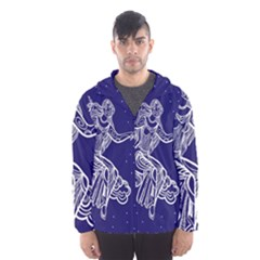 Virgo Zodiac Star Hooded Wind Breaker (men)