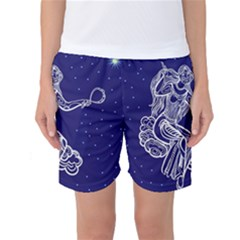 Virgo Zodiac Star Women s Basketball Shorts by Mariart