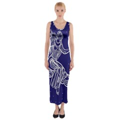 Virgo Zodiac Star Fitted Maxi Dress by Mariart