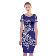 Virgo Zodiac Star Classic Short Sleeve Midi Dress by Mariart