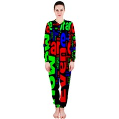 Writing Color Rainbow Onepiece Jumpsuit (ladies)