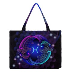 Sign Pisces Zodiac Medium Tote Bag by Mariart