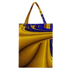 Waves Wave Chevron Gold Blue Paint Space Sky Classic Tote Bag by Mariart