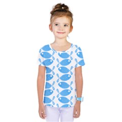 Fish Pattern Background Kids  One Piece Tee