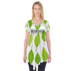 Spring Pattern Short Sleeve Tunic