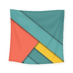 Color Schemes Material Design Wallpaper Square Tapestry (small) by Nexatart