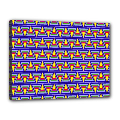 Seamless Prismatic Pythagorean Pattern Canvas 16  X 12