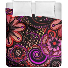 Sunset Floral Duvet Cover Double Side (california King Size)
