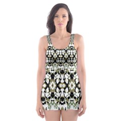 Abstract Camouflage Skater Dress Swimsuit by dflcprints