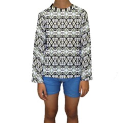 Abstract Ethnic Camouflage Kids  Long Sleeve Swimwear by dflcprintsclothing