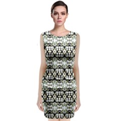 Abstract Ethnic Camouflage Classic Sleeveless Midi Dress by dflcprintsclothing